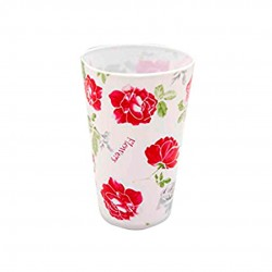 Copo Plástico Flores 400ml