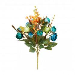 Buquê Camélia X21 Creme/Azul Outono