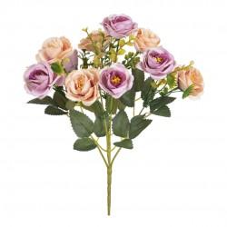 Buquê  Rosas X10 Pêssego Outono Mauve