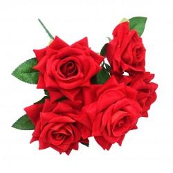 Buquê De Rosas Vermelho Aveludado
