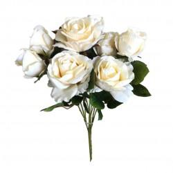 Buquê De Rosas Branco Aveludado