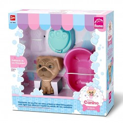 Bebê Canino Hora Do Banho