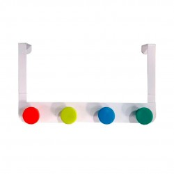 Cabideiro Para Porta Color 4 Pinos