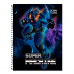 Caderno 15x1 300 Folhas Super Machine