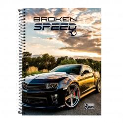 Caderno 15x1 300 Folhas Broken Speed