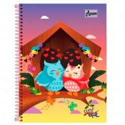 Caderno 15x1 300 Folhas Cute Owl