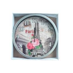 Relógio De Parede Redondo Flores