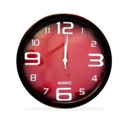 Relógio De Parede Redondo Vermelho