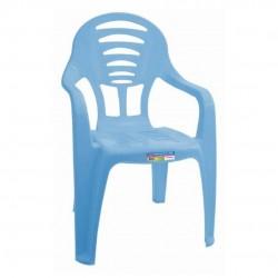 Cadeira Infantil Azul Com Braço