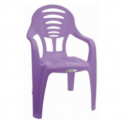 Cadeira Infantil Lilás Com Braço