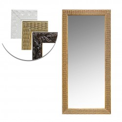 Espelho De Pendurar Emoldurado Retangular 24x54CM