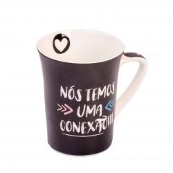 Caneca de Porcelana Muddy Conexão Love 300ml