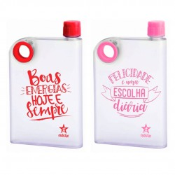 Squeeze Plástica Fit Gym Frases 420ml