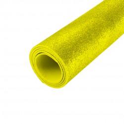 Folhas De Eva Amarela Com Glitter 5 Unidades 40x48cm