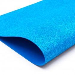 Folhas De Eva Azul Com Glitter 5 Unidades 40x48cm