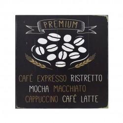 Quadro Decorativo De Madeira Café