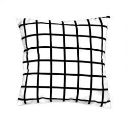 Capa Para Almofada Grid Branca