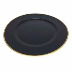 Sousplat Plástico Borda Gold