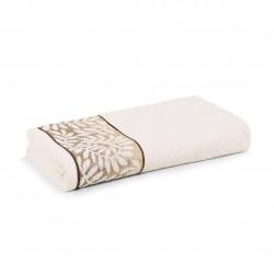 Toalha De Banho Marsele Ivory/Marrom