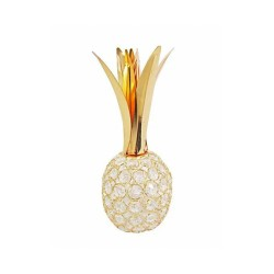 Abacaxi Decorativo Dourado Em Metal