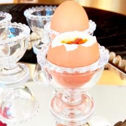 Conjunto Porta Ovos Cristal Pearl 6 Peças