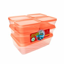 Kit Potes Fresh Retangular 7 Peças
