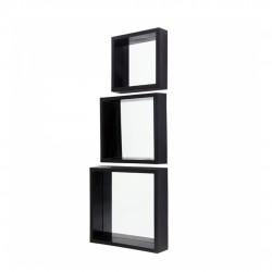 Conjunto Espelhos Decorativos Com Moldura 3 Peças