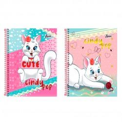 Caderno 12x1 240 Folhas Cindy Pop
