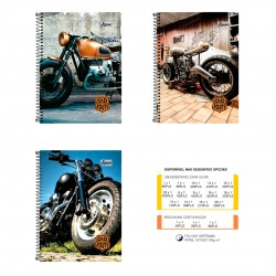 Caderno 12x1 240 Folhas Old Route