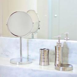 Espelho Pedestal Dupla Face 19cm