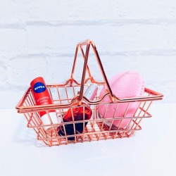 Mini Cesto De Compras Rose Gold