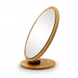 Espelho Decorativo Redondo Madeirado