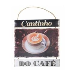 Placa De Madeira Frases Café Para Pendurar