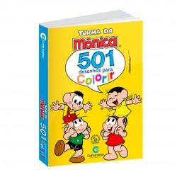 Livro 501 Desenhos Para Colorir Turma Da Mônica