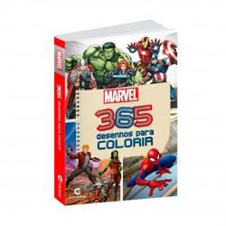 Livro 365 Desenhos Para Colorir Marvel