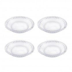 Conjunto Pratos Cristal Pearl 4 Peças