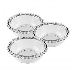 Conjunto Bowls Cristal Pearl 3 Peças