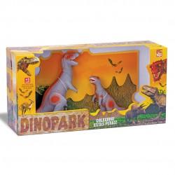 Coleção Dinopark Tiranossauro Rex Com Filhote