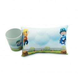 Mini Travesseiro Com Caneca Infantil