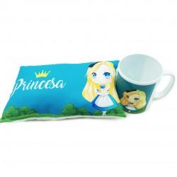 Mini Almofada Com Caneca Princesas Sortidas
