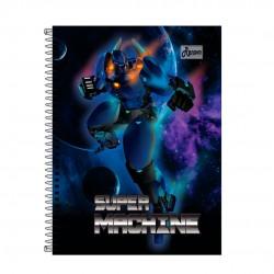 Caderno 10x1 200 Folhas Super Machine