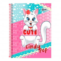 Caderno 10x1 200 Folhas Cindy Pop