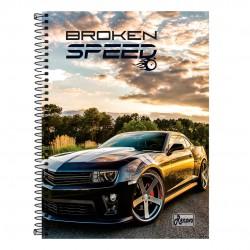Caderno 20x1 400 Folhas Broken Speed