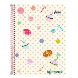 Caderno 15x1 300 Folhas Life Is Sweet