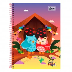Caderno 20x1 400 Folhas Cute Owl