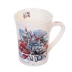 Caneca De Porcelana Muddy London 320ml