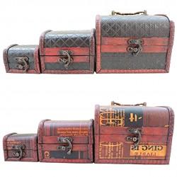 Kit 3 Caixas De Madeira