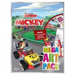 Livro Disney Mega Art Pack Mickey Aventuras Sobre Rodas