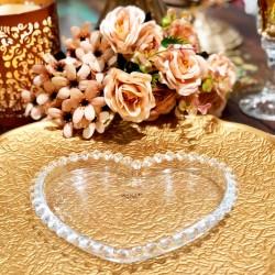 Prato Cristal Coração Pearl