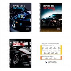 Caderno 10x1 200 Folhas Broken Speed